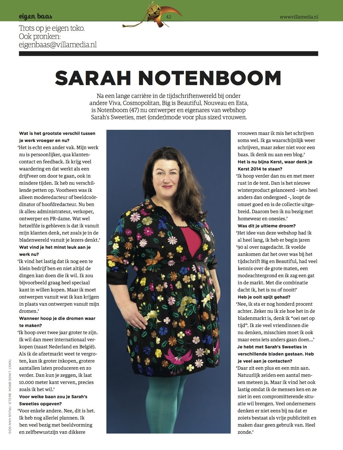 Interview Sarah Notenboom Villamedia december 2013
